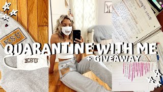 *QUARANTINED* VLOG // giveaway, how I'm feeling, fabrics homework