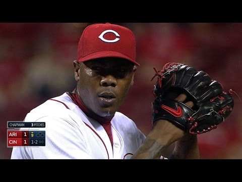 ARI@CIN: Chapman fans side using 103-104 mph pitches