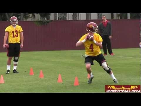 USC quarterback drills from day two of 2013 spring football