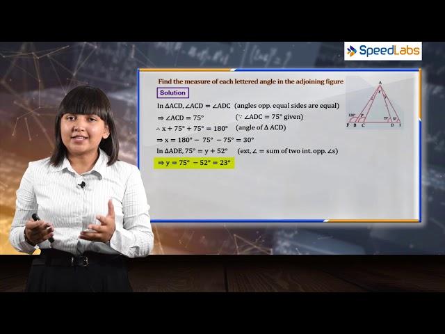 ISOSCELES TRIANGLE for ICSE class 9th (MATHS) : Q2