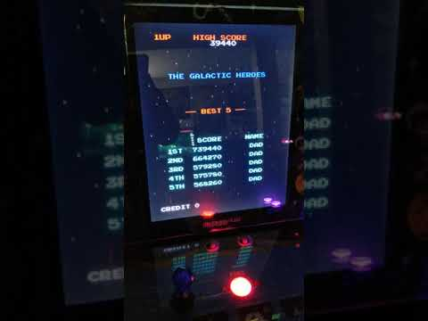 New personal Galaga arcade1up high score 739,000 stage 69 from 1HealthPlays Onstot