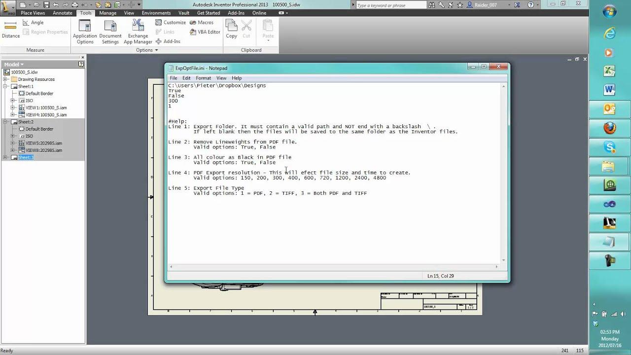 Auto PDF Export add-in for Autodesk Inventor - Mgfx co za