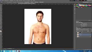Как сделать себя качком в фотошопеPhotoshop!Как увеличить мышцы в фотошопе cs6