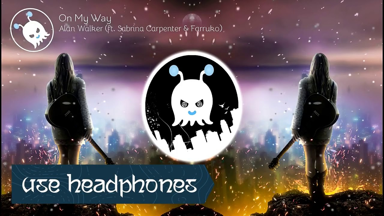 Alan Walker - on my way ! 3d songs surround sound ! Use ...