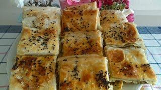 Çok Pratik  El Açması Peynirli Tepsi Böreği