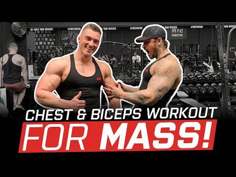 MASSIVE Chest & Biceps Workout, um MASS hinzuzufügen