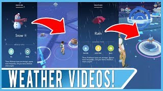 5 NEW WEATHER VISUALS IN POKEMON GO! Weather System Will Impact Pokemon Strength and Spawn Rate!