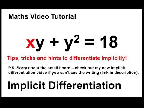 Implicit Differentiation - x^2 + xy + y^2