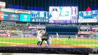Watching Aaron Judge bat from behind home plate (2017)
