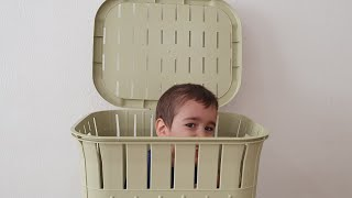 Berat Sepete Saklandı. Kid Hiding in the Basket