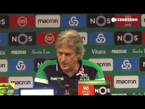 Jorge Jesus responde a jornalista: «O Sporting tem duas derrotas. Sabe com quem? Diga!»