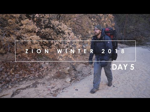 Zion Winter 2018: (Day 5) Landscape Photography in Zion National Park