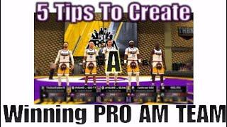 5 نصائح حول كيفية إنشاء الفوز PRO فريق AM