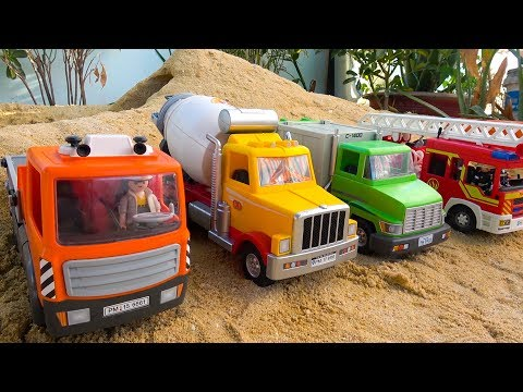 Construction Vehicles with Street Cars Toys Unboxing for Kids