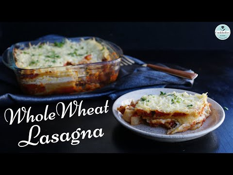 Wholewheat Lasagna without Oven (बिना अवन के हेल्दी लजानिया) | No maida | No oven | Restaurant Style