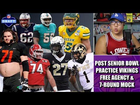 Post Senior Bowl Minnesota Vikings Free Agency & 7-Round Vikings Mock Draft!