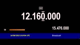 Trans World Radio India (transmitter Tashkent, Uzbekistan) - 12160 kHz