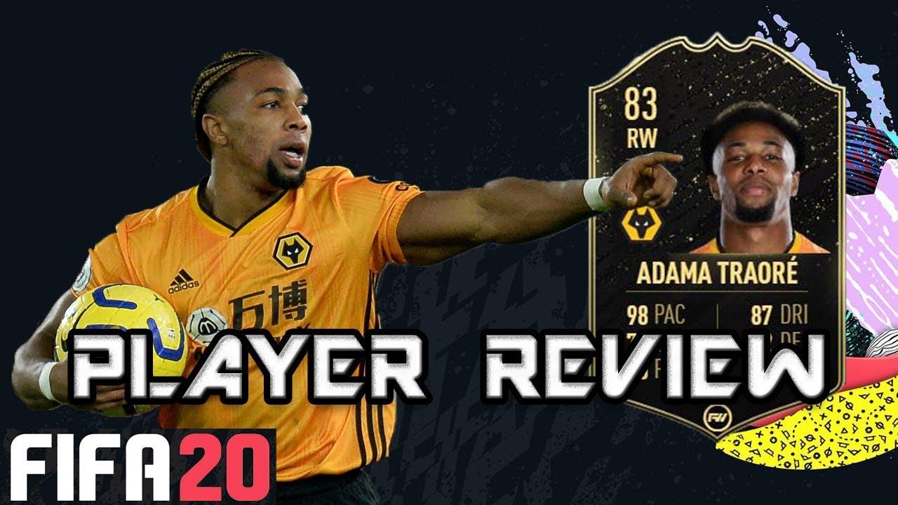 Fifa 20 83 Inform Adama Traore Player Review Sif Traore Youtube