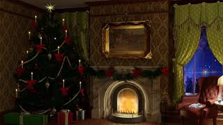 Cozy Victorian Christmas | Fireplace & Rain Sounds🐈🎄