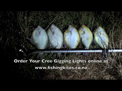 spearing flounder at whangarei with underwater gigging lights, Reel Combo