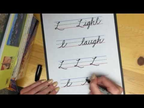 learning my letters learn cursive letter quot l quot 1746