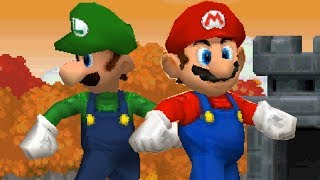 Newer Super Mario Bros DS Walkthrough - Part 1 - Goldleaf Plains