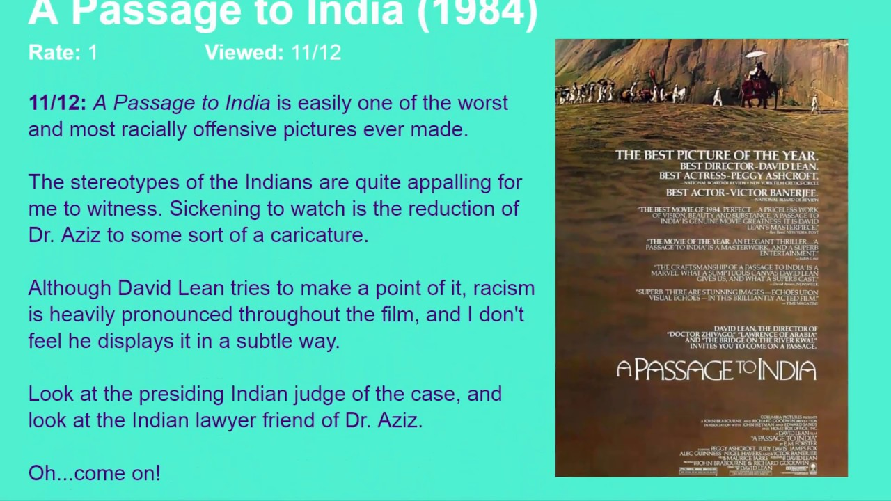 a passage to india movie review