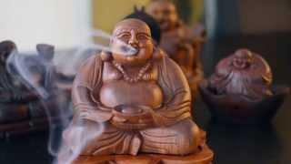 Laughing Buddha Incense Burner