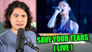 Download Vocal Coach Reacts to Save Your Tears (Live)