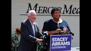 Former President Jimmy Carter Campaigns For Stacey Abrams In Georgia
