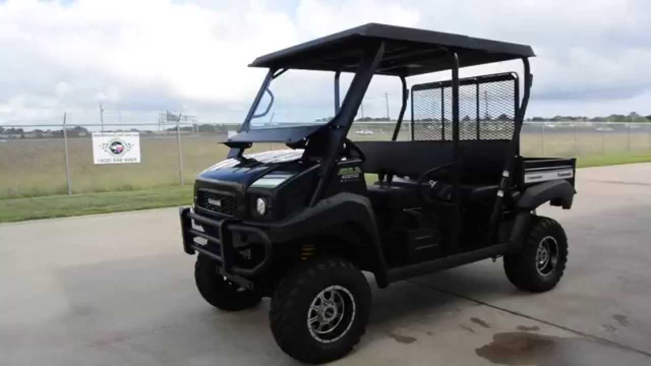 $12,299: 2015 kawasaki mule 4010 trans black with lift, top, and