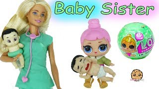 Lol Surprise big sister is at the hospital with Dr. Barbie looking ...
