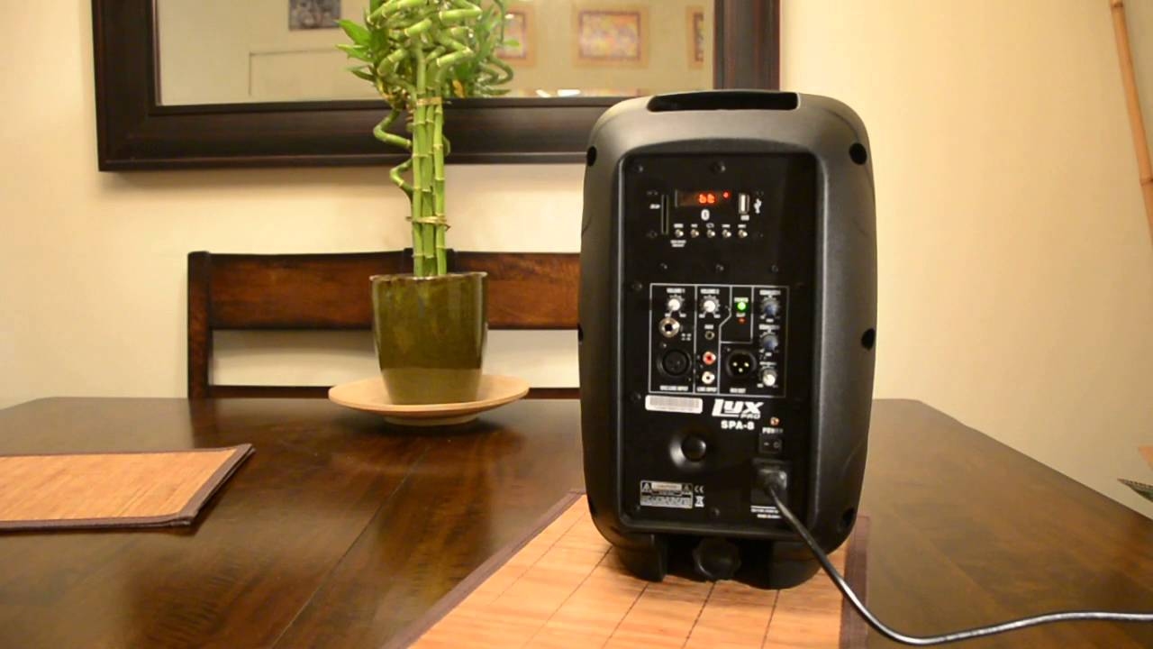 Lyxpro Spa 8 Compact Portable Pa System Speaker Youtube