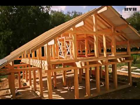 видео: time-lapse строительства дома bvh