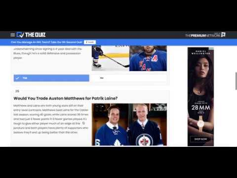 Quiz: Can You Manage An NHL Team?