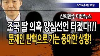 (다반뉴스) 조국 딸 의혹 양심선언 터졌다!!! 문재인 탄핵으로 가는 중대한 상황!!! / 신의한수 19.08.22