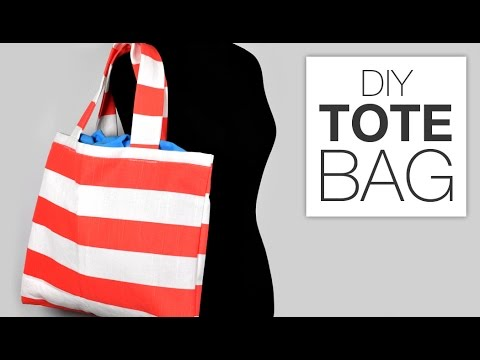 0dd97093344 How to Sew a Simple Tote Bag - YouTube