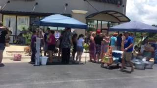 Lines at the Oviedo , Florida blood donation center day one of tragic Orlando shootings