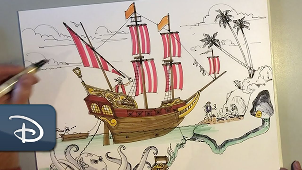 Learn to Draw a Disney-Inspired Pirate Scene | #DisneyMagicMoments