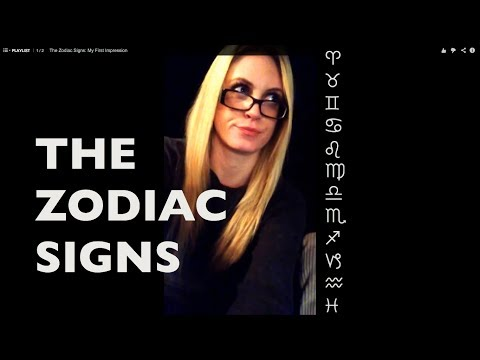The Zodiac Signs My First Impression