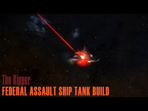 Elite: Dangerous. Ripping Enemies with Shield Tank Federal Assault Ship