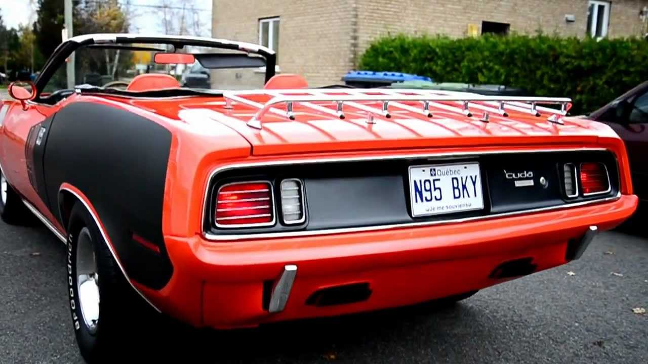 Dodge Challenger Convertible >> 1971 Plymouth Barracuda Convertible 440 Six Pack - YouTube
