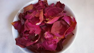 Dried Rose Petals At Home | How To Dry Rose Petals In Oven |