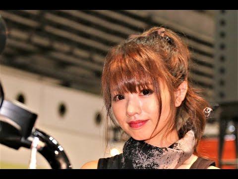ハーレーダビッドソンブースの可愛いコンパニオン「安西まりな」さん。 OSAKA MOTORCYCLE SHOW 2017 インテックス大阪 2017年3月18~20日.