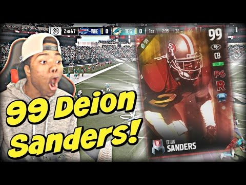 99 Deion Sanders Makes the Whole Defense Ball OUT!! | Madden 17 Ultimate Team Gameplay