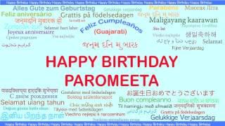 Paromeeta   Languages Idiomas - Happy Birthday