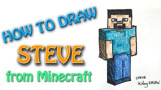 How to draw Minecraft - Steve from Minecraft in 3D