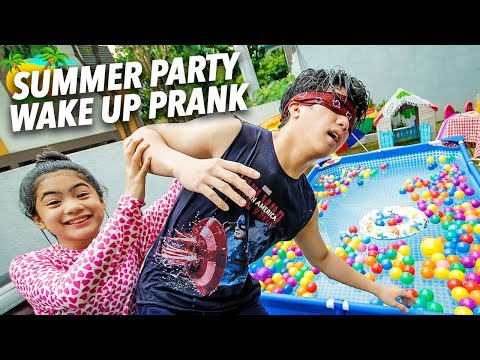 SUMMER PARTY WAKE UP PRANK ON BRO!! | Ranz and Niana