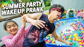 Download Video SUMMER PARTY WAKE UP PRANK ON BRO!! | Ranz and Niana MP3 3GP MP4