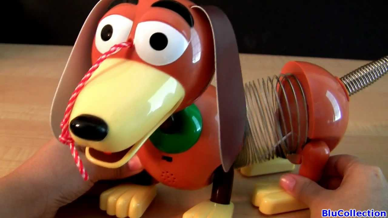 Toy Story 3 Talking Slinky Dog toys review from Disney Pixar review by blucollection - YouTube